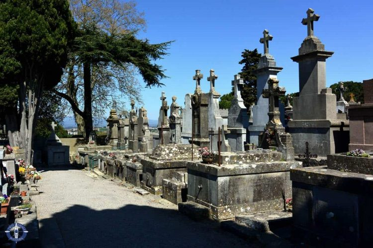 Cemetery at the Cite de Carcassonne in France