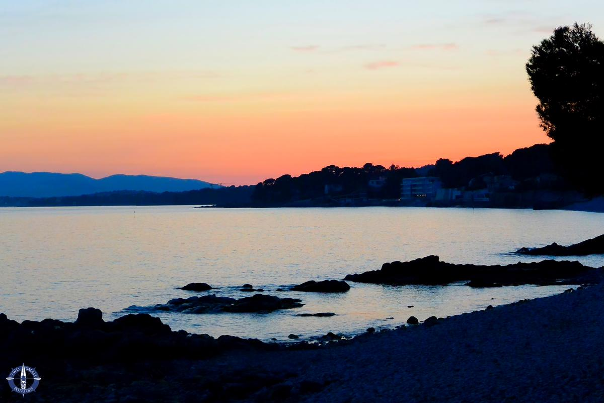 Sunset while camping in the French Riviera, Two Small Potatoes Photography