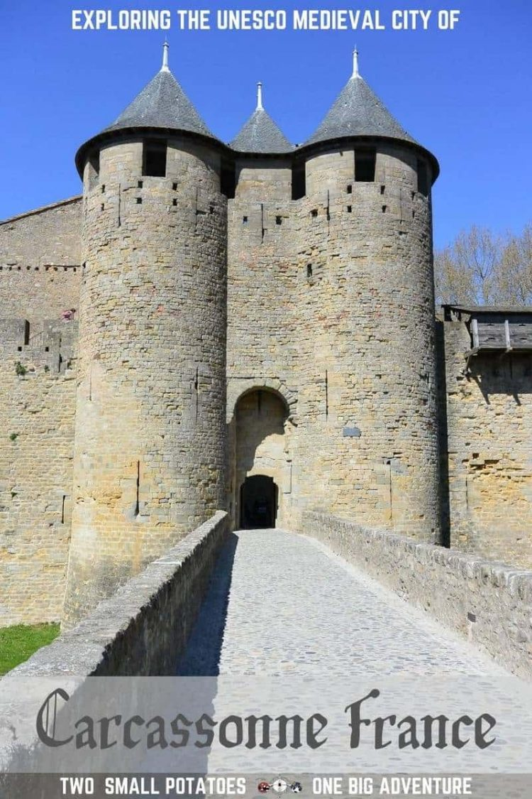 PIN of Chateau Comtal in the Cite de Carcassonne, France