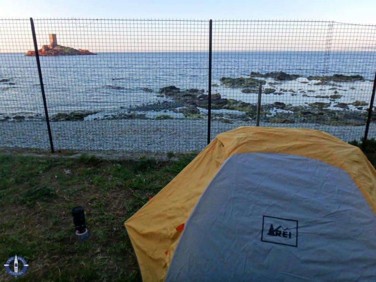 Tent camping in the French Riviera at Camping Le Dramont