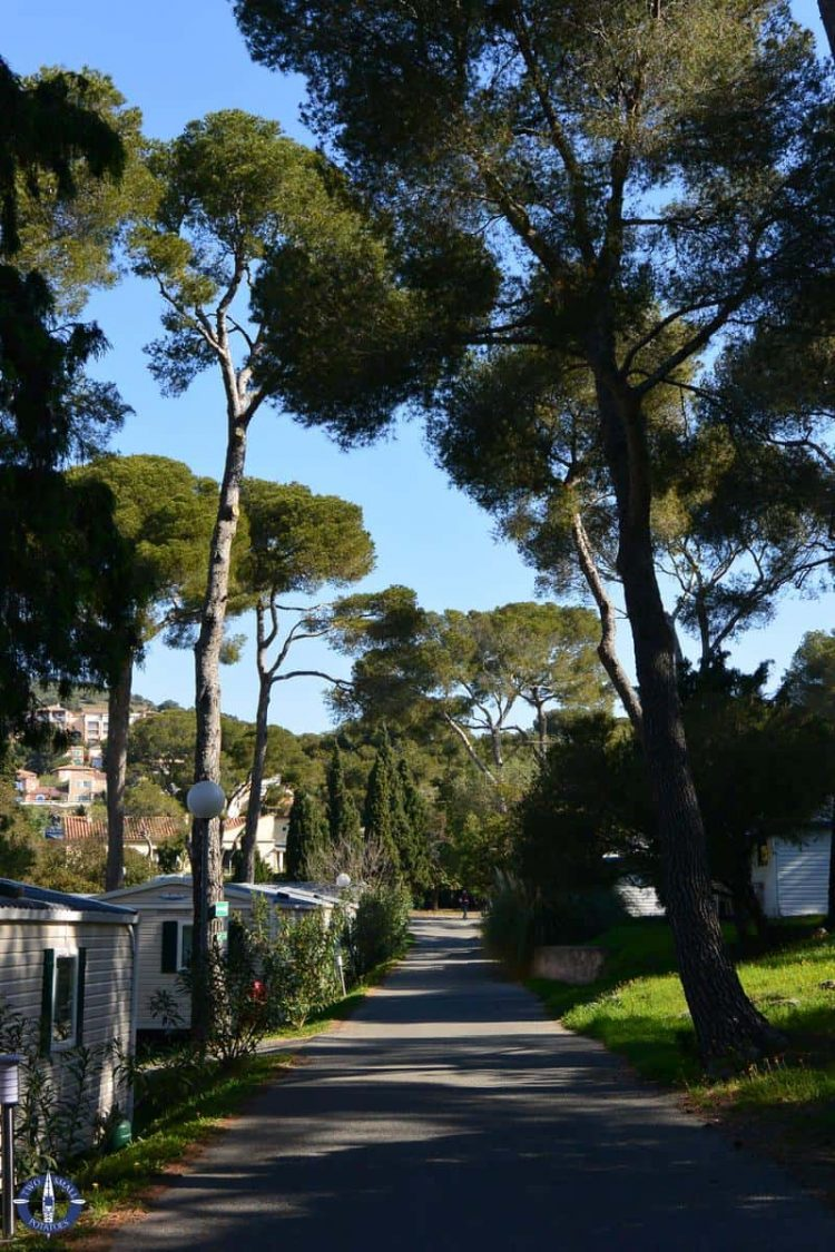 La Plage Du Dramont camping in the French Riviera