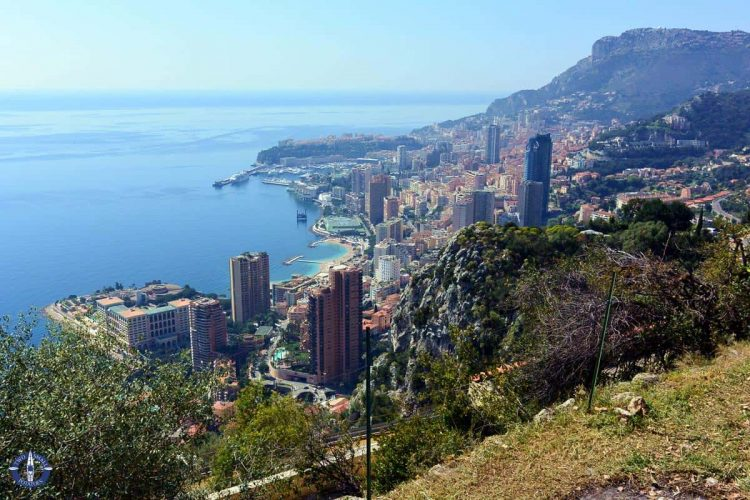 Country of Monaco from the Riviera