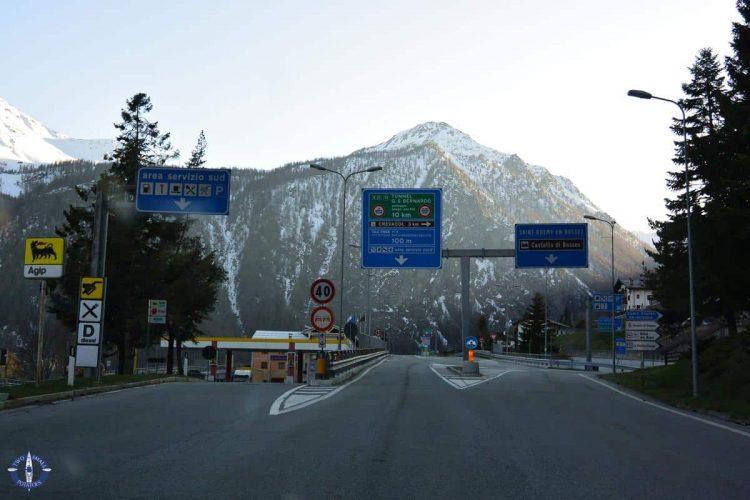 Great St Bernard Tunnel linking Italy and Switzerland