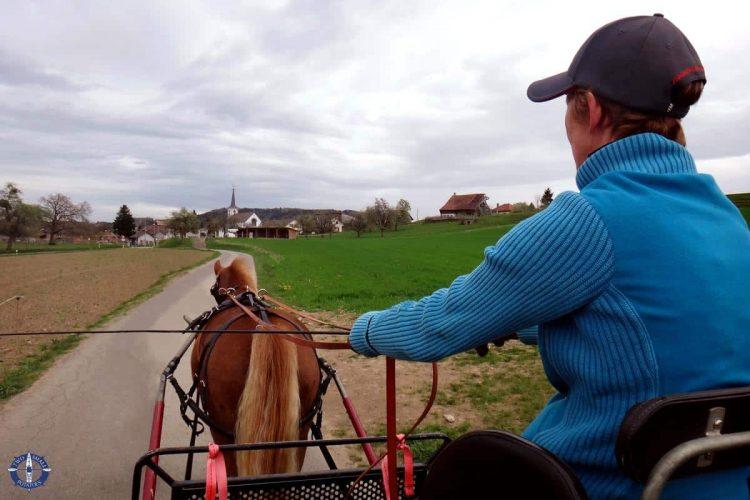 Carriage ride in Corserey, Switzerland