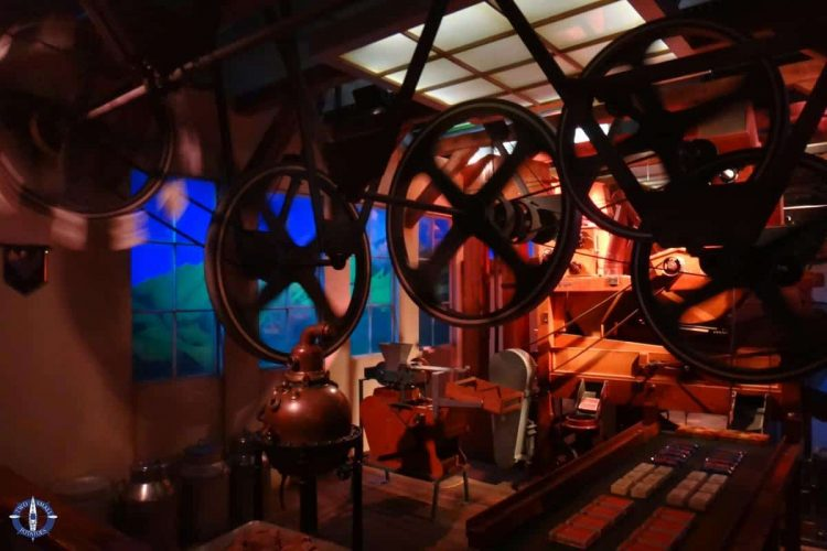 Old-fashioned production room at Switzerland's oldest chocolate factory