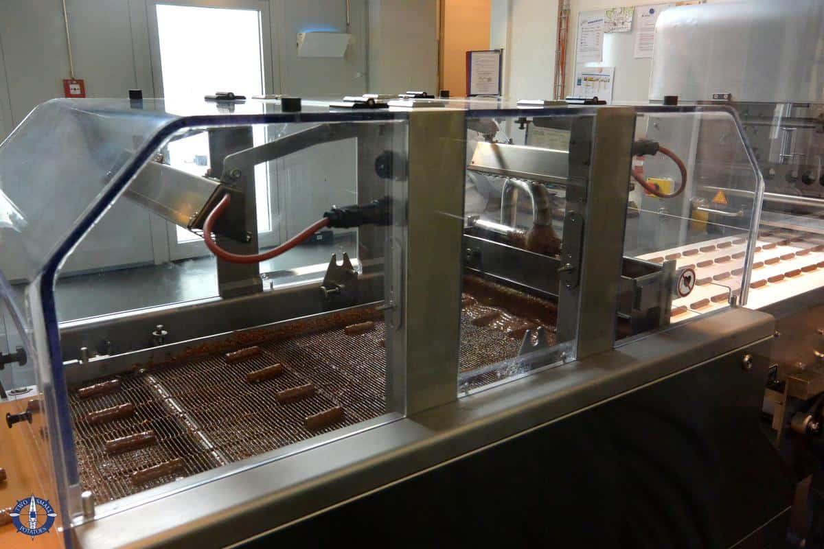 Chocolate machinery at Maison Cailler, Switzerland