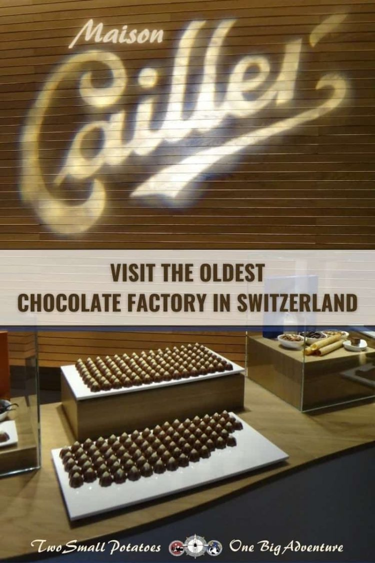 PIN, Maison Cailler chocolate factory tour, Two Small Potatoes Travel