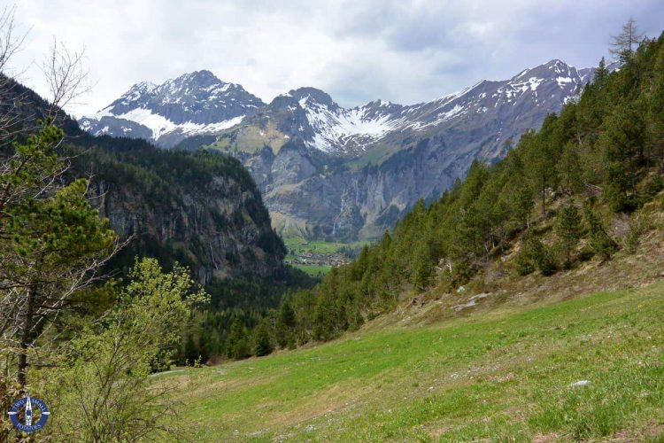 Snow-capped mountains from Kandersteg to Oeschinensee hike