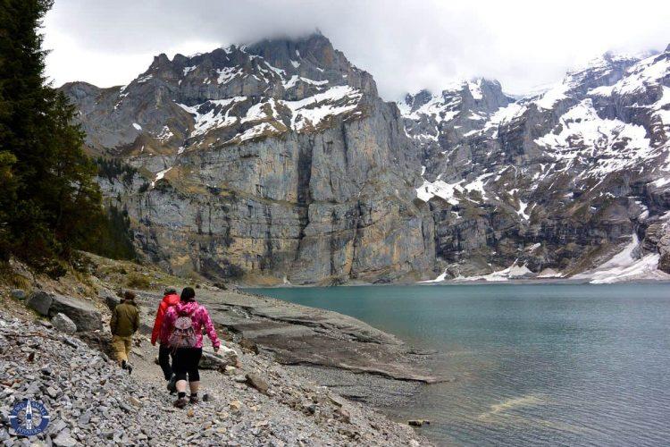 Trail along Oeschinen Lake above Kandersteg