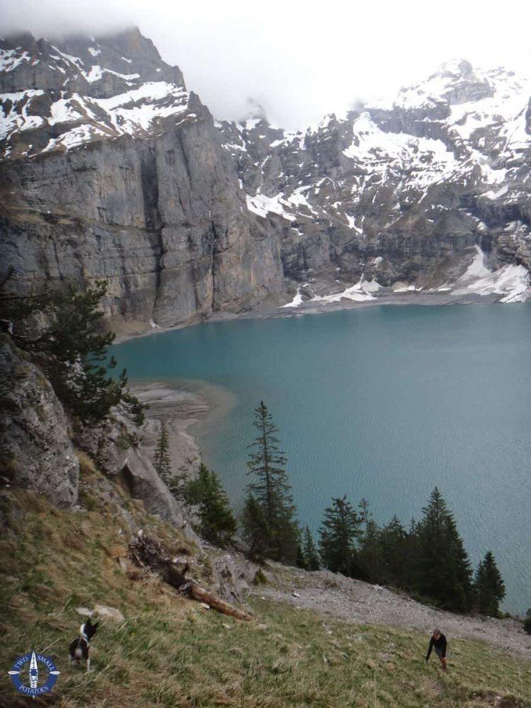 Hike to Unterbergli Hut, Lake Oeschinen, Switzerland