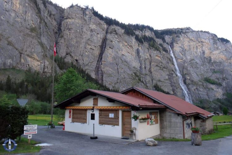 Muerrenbach Falls from our campground in Stechelberg, Switzerland