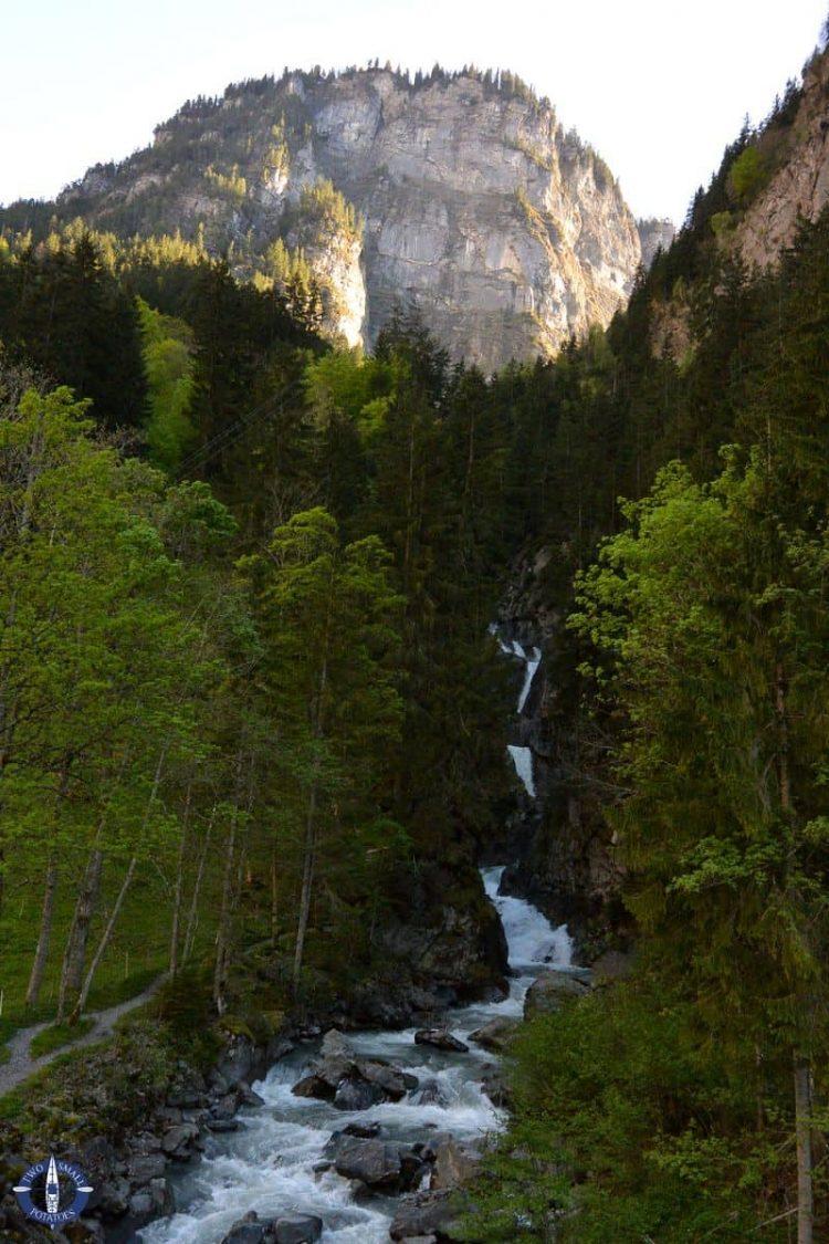 Sefinen Waterfall in Stechelberg, Switzerland