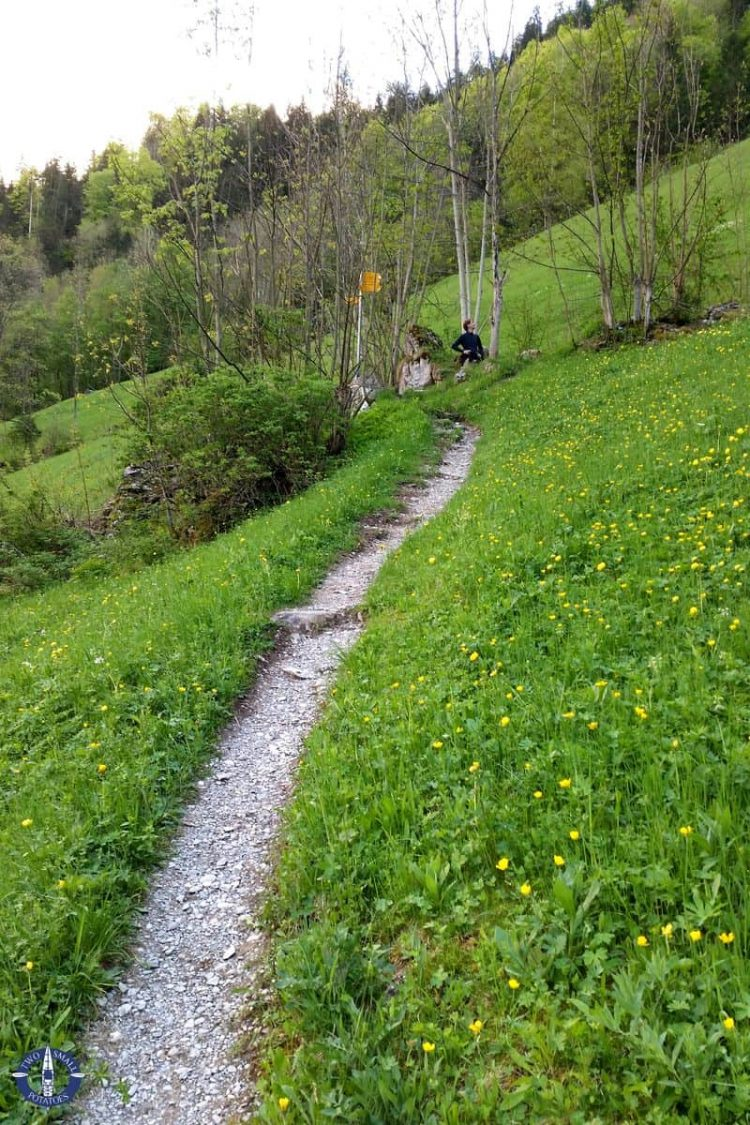 Trail to Sefine Falls in Lauterbrunnen Valley