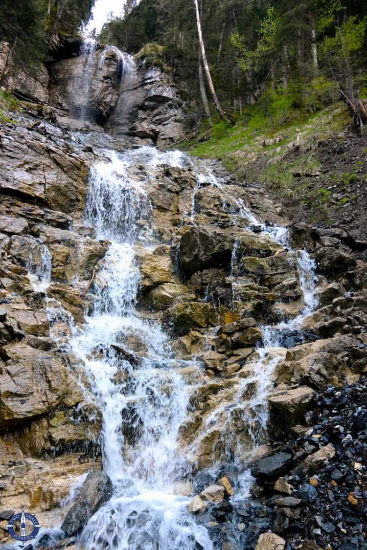 Waterfall above the trail to Sefine Falls, Switzerland