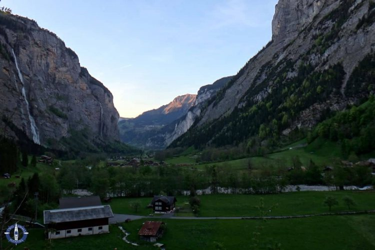 Lauterbrunnen Valley from our hiking trail in Stechelberg