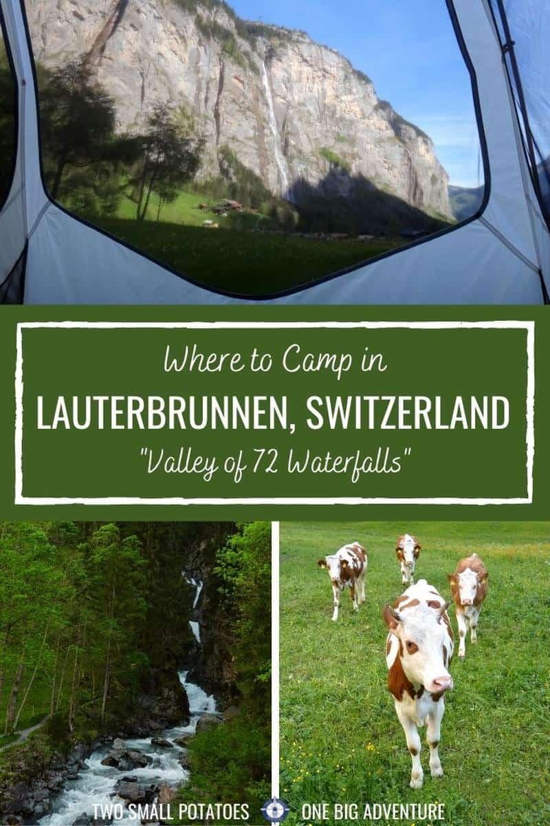 PIN, Lauterbrunnen camping Switzerland by Two Small Potatoes Travel