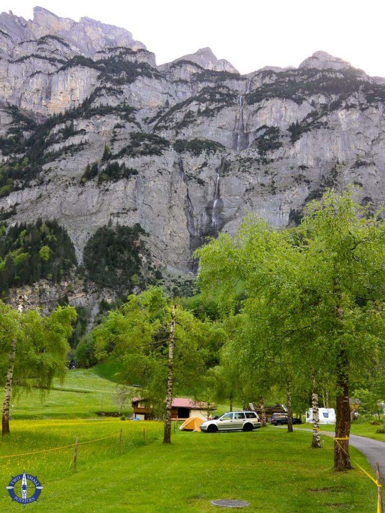 Camping Rutti in Lauterbrunnen Valley, Switzerland