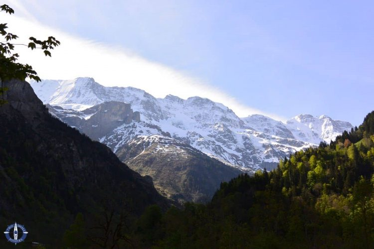 Stunning Swiss Alps in Lauterbrunnen, Camping Ruetti