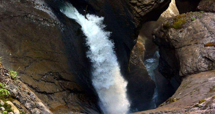 Truemmelbach Falls in Lauterbrunnen Valley