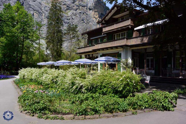 Cafe at near the falls in Lauterbrunnen Valley