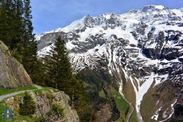 UNESCO Swiss Alps from hiking trail near Hotel Tschingelhorn