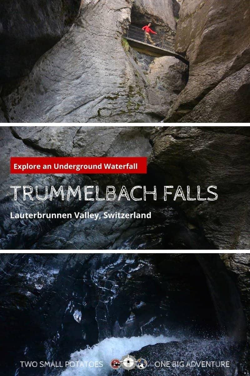 PIN 2, Trummelbach Falls hiking in Switzerland