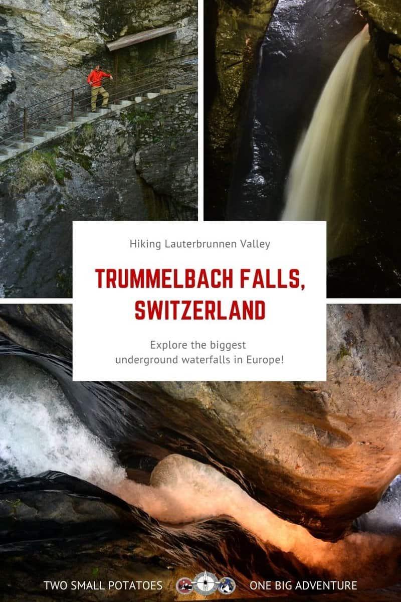 PIN, Trummelbach Falls hiking in Switzerland