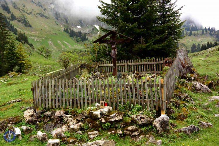 Shrine in Brecca Gorge, Switzerland