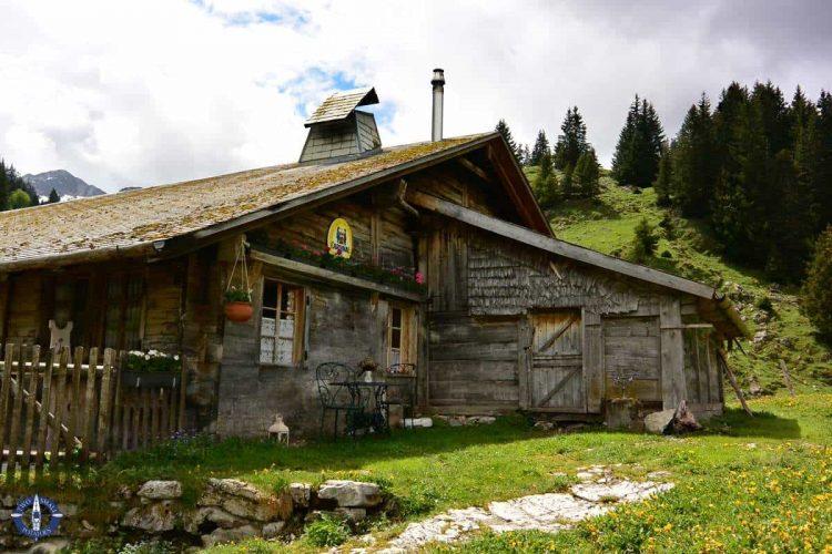 Marbach Brecca alpine chalet in Brecca Gorge, Switzerland