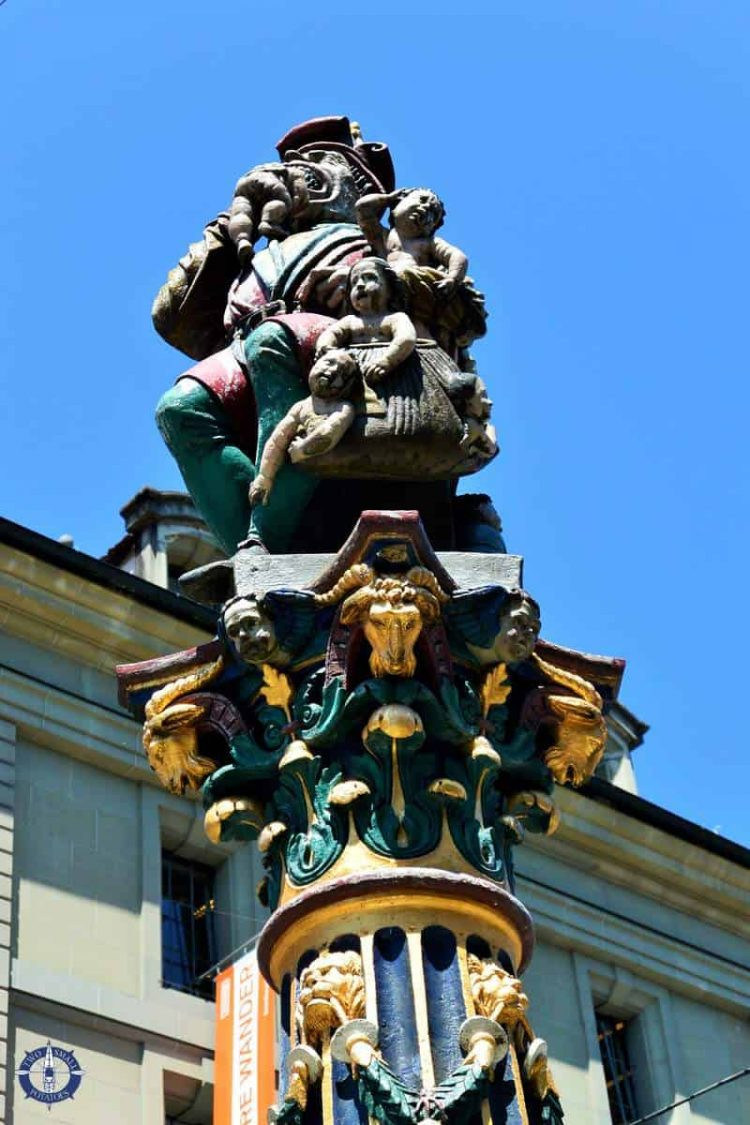 Child Eater Fountain in Old Town Bern, Switzerland