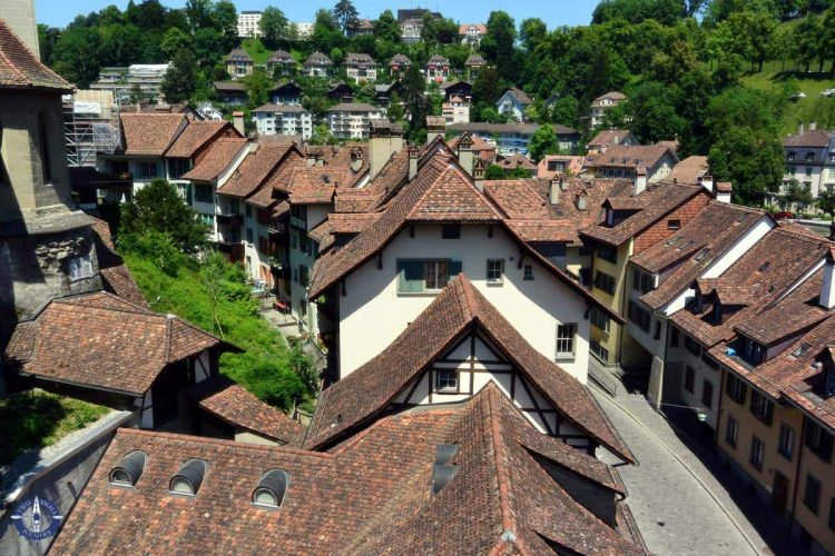Photography of red rooftops of Old Town Bern, Switzerland for sale