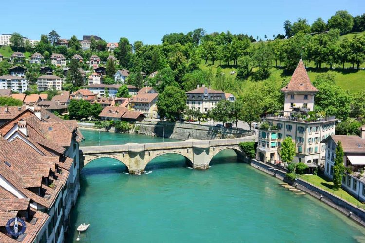 Aare River in Old Town Bern