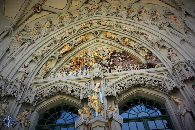 Main entrance of Bern Cathedral, Bern, Switzerland