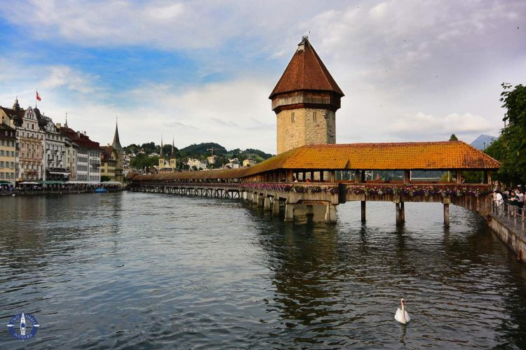 Chapel Bridge, one of the best things to do in Lucerne, Switzerland