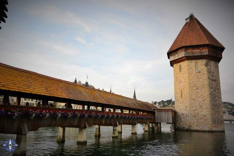Wasserturm in Chapel Bridge, Lucerne, Switzerland
