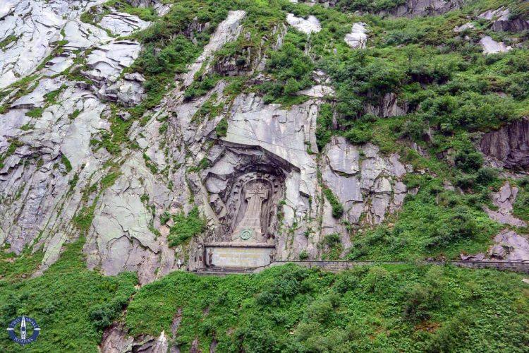 Suvorov Memorial near the Devil's Bridge in Switzerland