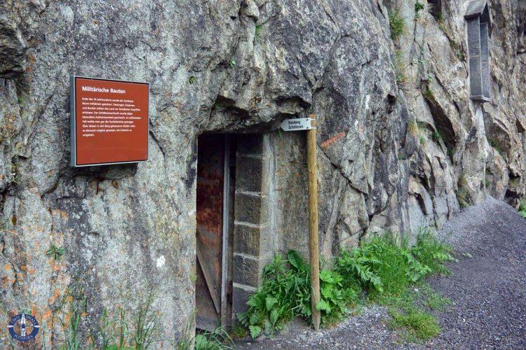 Entrance to the Soldier's Tunnel at Teufelsbrucke, Andermatt, Switzerland