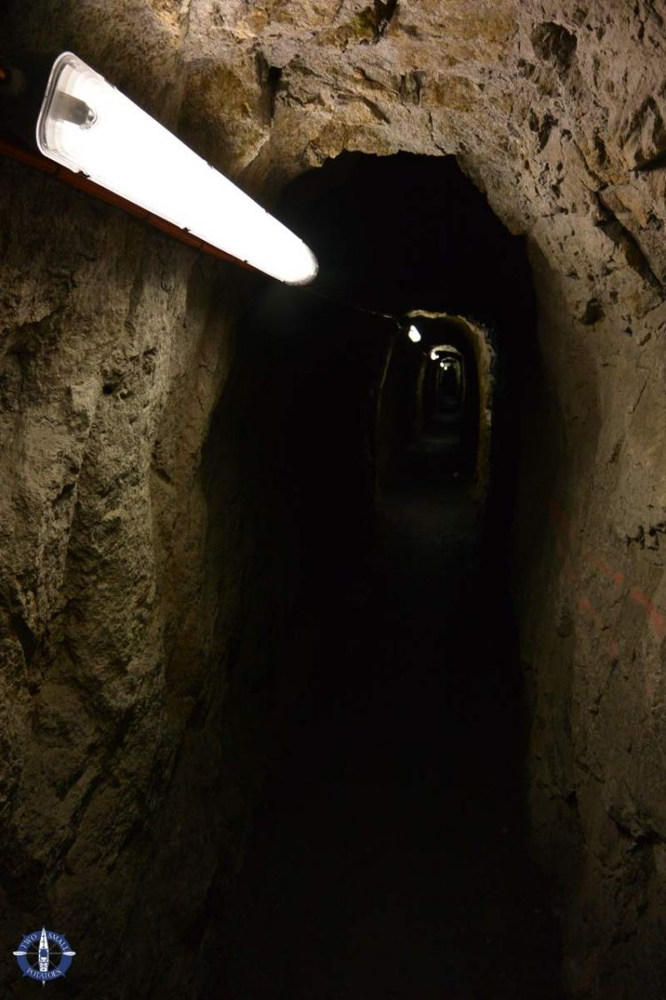 Soldier's Tunnel along the Reuss River at Devil's Bridge, Andermatt, Switzerland