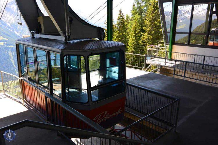 Tram from Betten Talstation at Bettmeralp, Switzerland