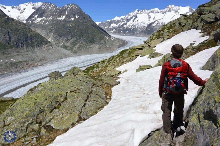 Travis above Aletsch Glacier, Switzerland