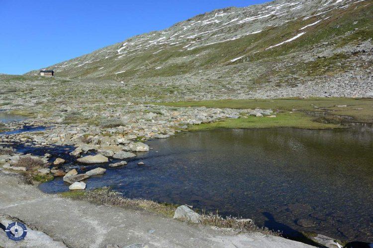 Marjelen Lake above Aletsch Glacier in Switzerland