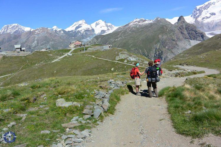 Hornlihutte Matterhorn Trail above Schwarzsee, Switzerland