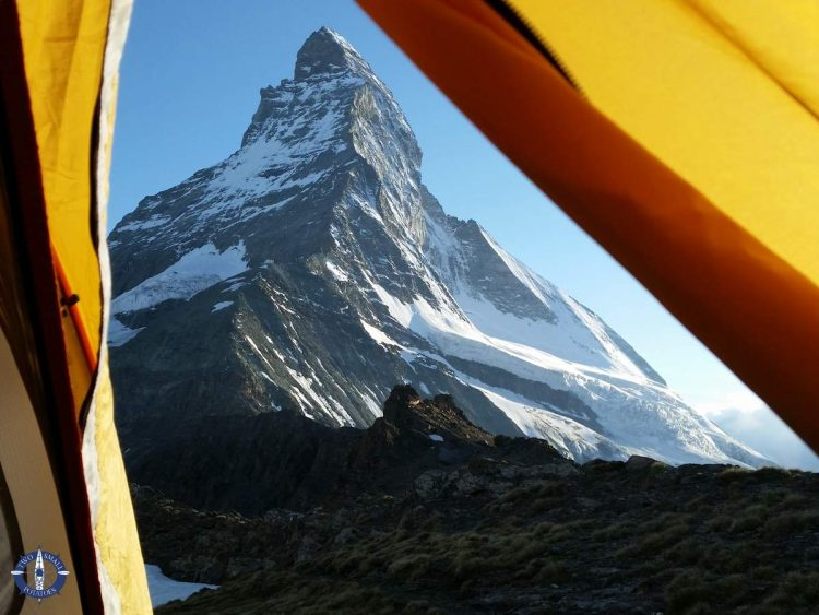 The Matterhorn from our tent in Switzerland