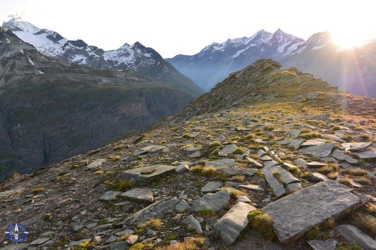 Sunrise over the Swiss Alps from the Hornlihutte Matterhorn Trail
