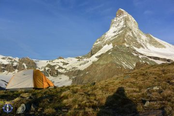 Matterhorn from trail to Hornli Hut, Switzerland