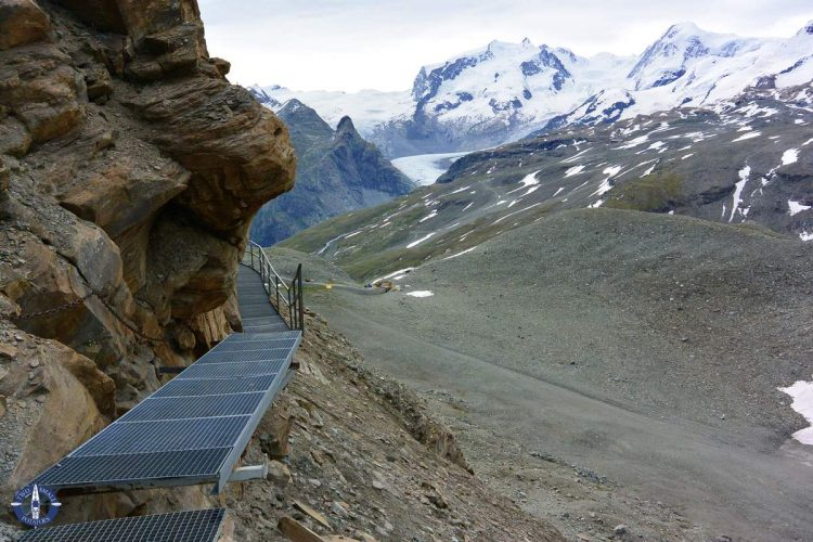 Gorner Glcier from the Hornlihutte Matterhorn Trail in Switzerland