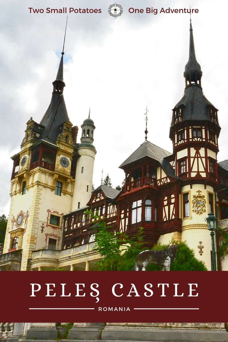 Cradled in a valley in the Carpathian Mountains lies Peleș Castle, the architectural and historical crown jewel of Romania. @RomaniaTourism #PelesCastle #TatersTravels