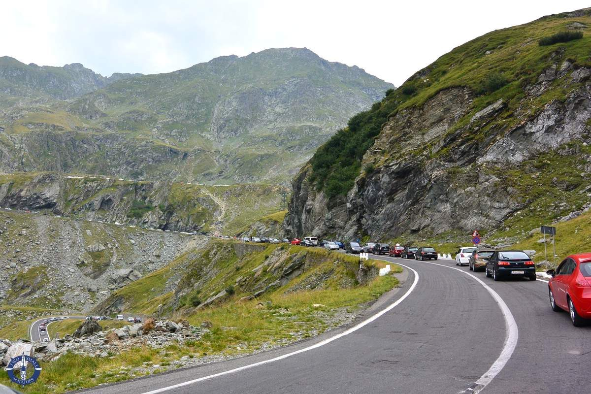 Traffic on the Transfagarasan Highway in Romania