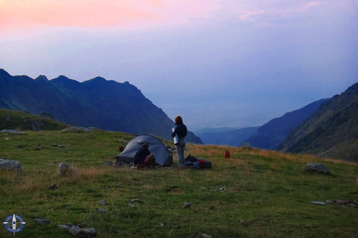 Our camping spot in the Carpathians above the Transfagarasan Hwy