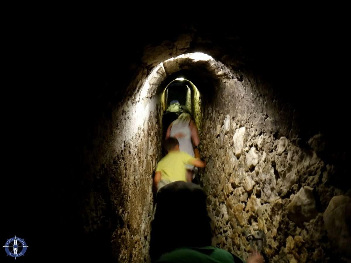 The Secret Passage at Bran Castle in Romania
